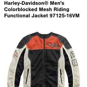 Harley Davidson colorblock mesh riding jacket